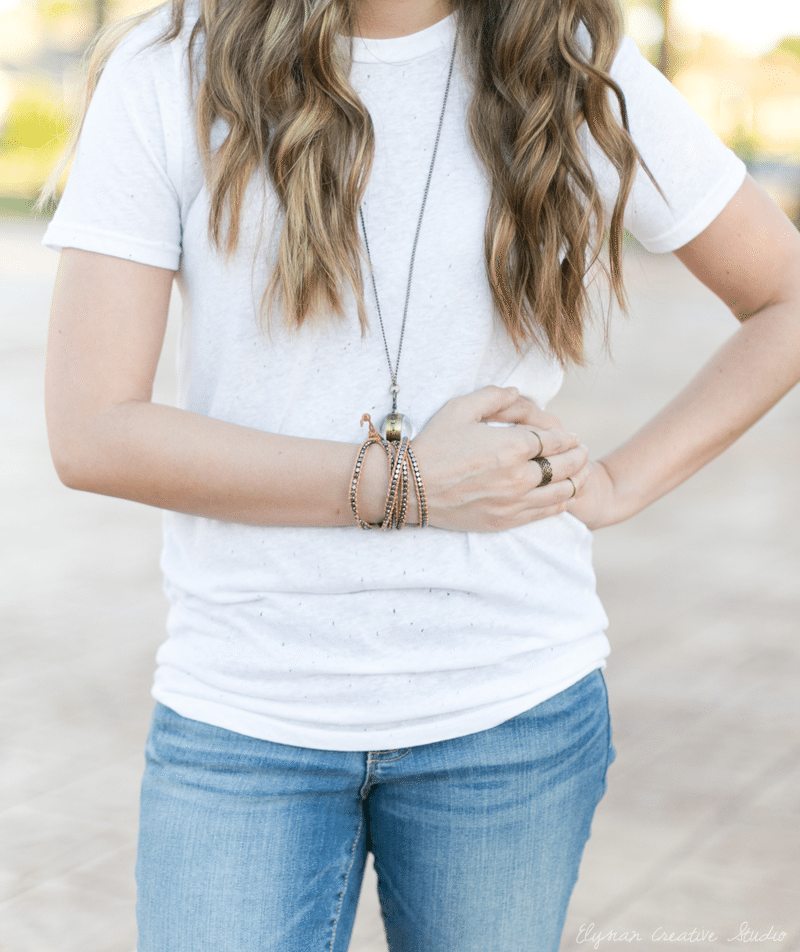 Think Elysian Style + Travel blog - houston TX blogger - casual fall style //ankle boots white t-shirt and accessories