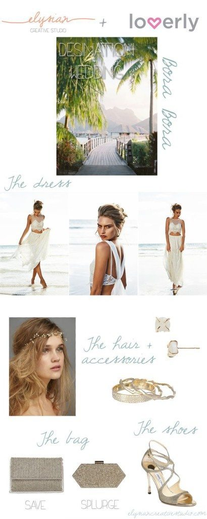 Think Elysian & Lover.ly collaborate to style your beachy destination wedding /// www.thinkelysian.com