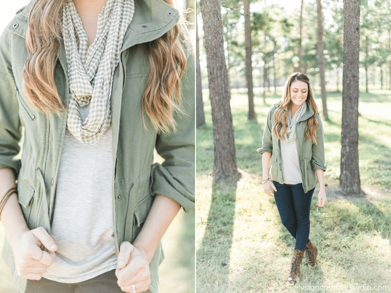 Olive Army Military Jack + Combat Boots + Gingham // Fall Fashion on www.thinkelysian.com