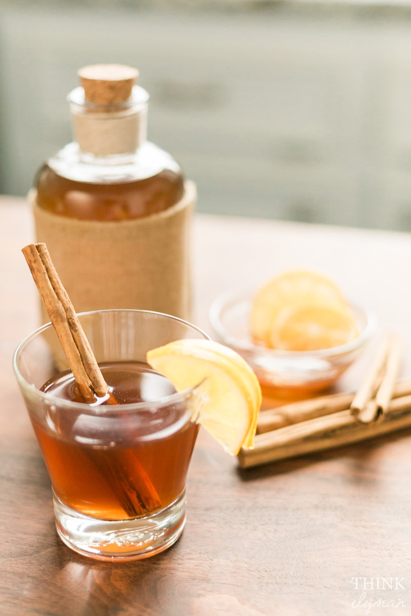 Cinnamon apple hot toddy drink recipe. // www.thinkelysian.com