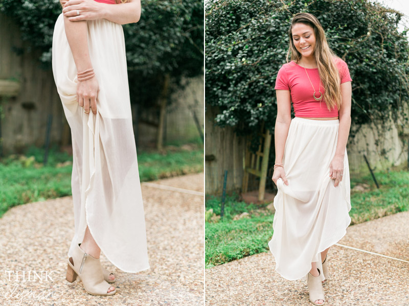 How to Style a Crop Top & Maxi Skirt // www.thinkelysian.com