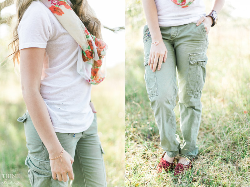 cargo pants, colorful accessories, spring fashion - www.thinkelysian.com