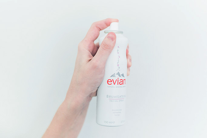 Product Review: Evian Mineral Water Facial Spray - www.thinkelysian.com