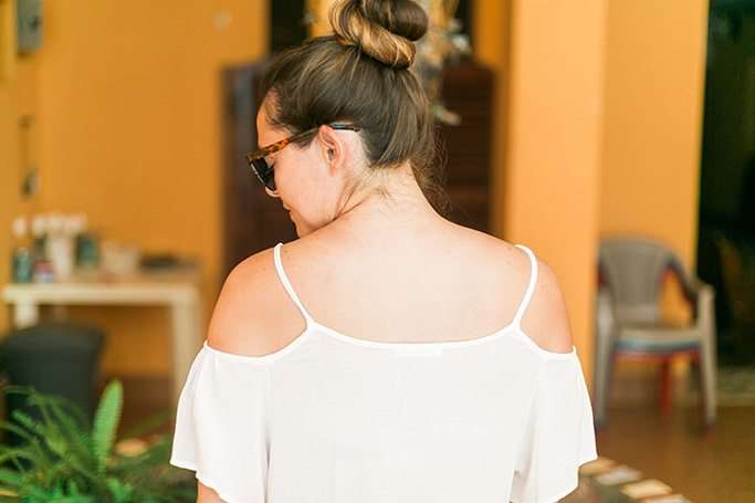 See how I wore this open-shoulder lace top in Nicaragua! // www.thinkelysian.com