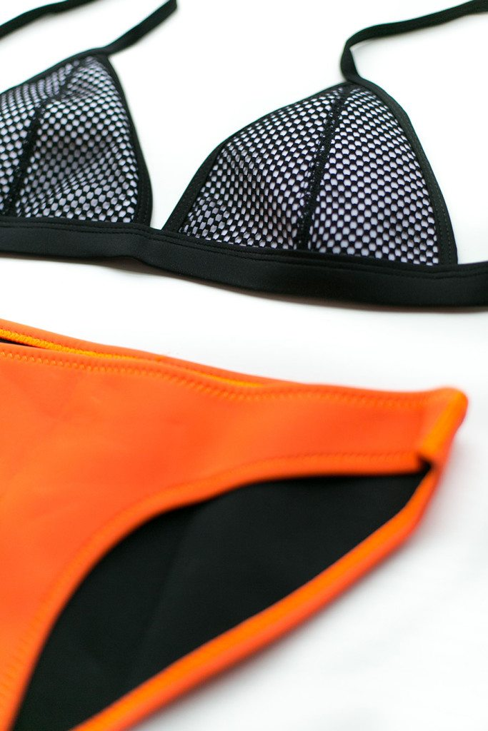 bright neon neoprene bikini on sale at Think Elysian Boutique - shop.thinkelysian.com