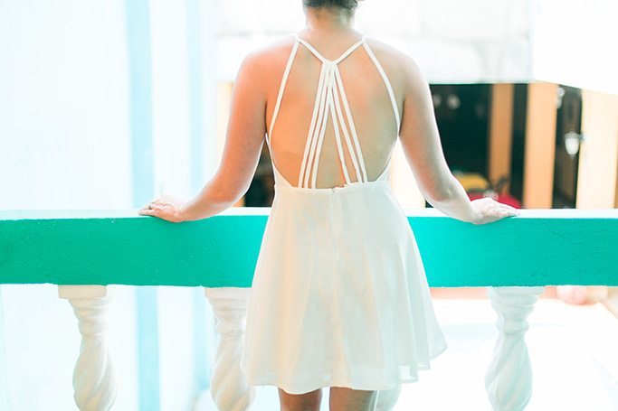 White hot backless date night dress - thinkelysian.com