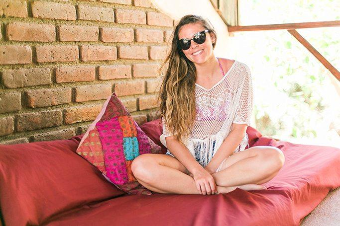 White Fringe Boho Beach Cover Up from Think Elysian Boutique - www.thinkelysian.com