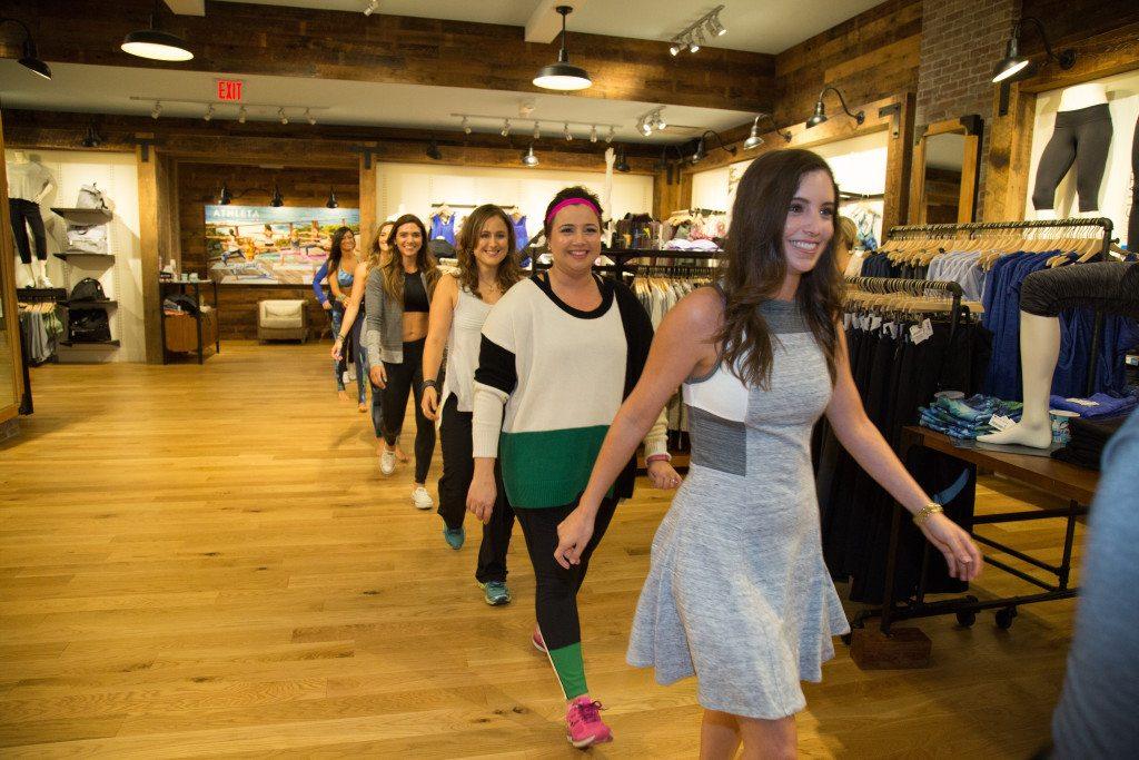 Think Elysian & fellow Houston Bloggers + Yoga teachers walk the runway in the Athlete + Derek Lam Collaboration Fashion Show www.thinkelysian.com